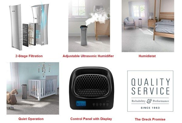 Oreck HEPA Air Purifier features
