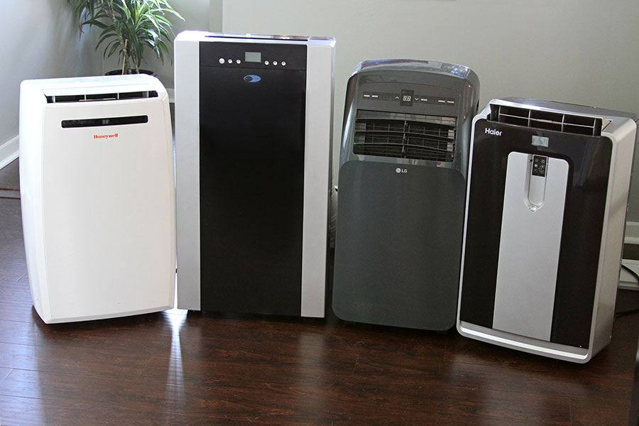 Portable air conditioner storage