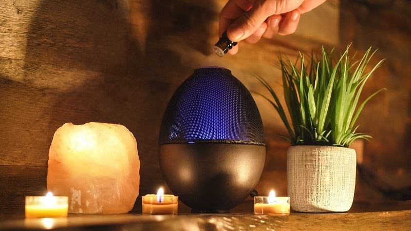 putting essential oil in humidifier